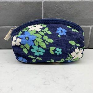 Aeropostale Canvas Floral Small Cosmetics Bag